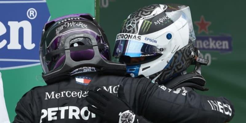 ボッタス2位「なぜ速さを失ったのか…。戦略を変えてもルイスに勝てなかっただろう」メルセデス【F1第12戦決勝】
