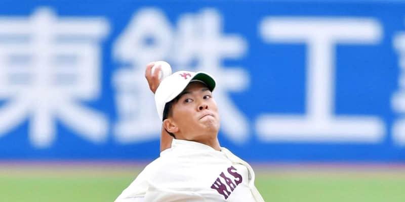 楽天が早大・早川の交渉権獲得!4球団競合 石井GM「日本を代表する投手に」