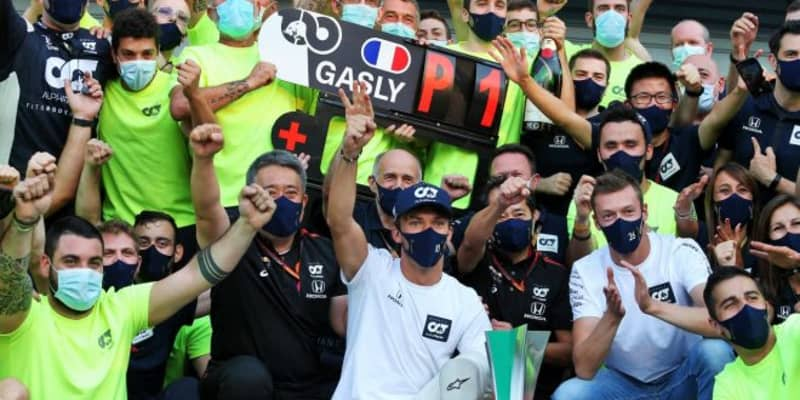 ピエール・ガスリー、2021年シーズンもアルファタウリ・ホンダF1からの参戦が決定