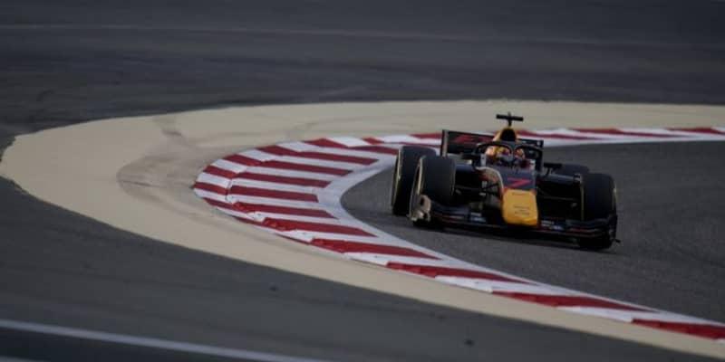 FIA-F2第11戦バーレーン レース1:角田裕毅が最後尾から16台を抜き6位入賞&ランク3位維持。優勝はドルゴヴィッチ