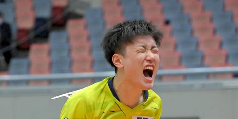 張本智和、逆転8強で飛び上がり絶叫「声は勝ちたい証し」自粛要請にやりづらさも