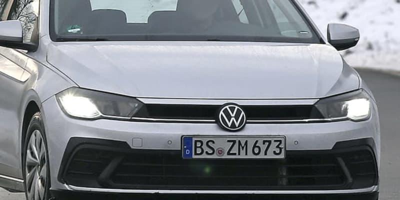 """VW ポロ も""""ゴルフ顔""""に! 現行初の改良でマイルドハイブリッドも"""