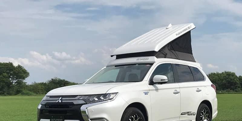 """屋根にテントを載せたら全部OK! 悩ましい車中泊の課題を一気に解決した、アウトランダー""""E:POP""""とは"""