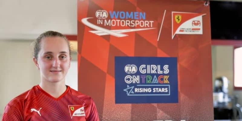 フェラーリ若手育成プログラムに初の女性メンバー。FIA女性ドライバー支援プロジェクト初代優勝者の16歳カーター