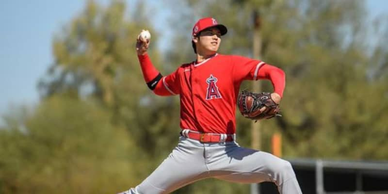 【MLB】大谷翔平、初ライブBPで最速156キロ 米メディアも続々反応「良い数字だ」