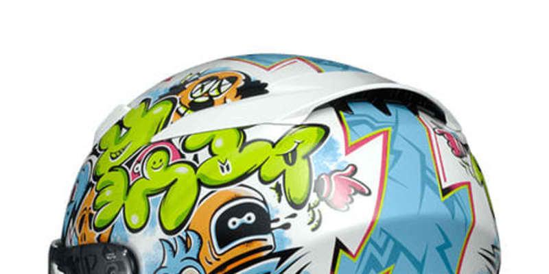 SHOEI、新型フルフェイス「Z-8」にストリートアート風のグラフィックモデル