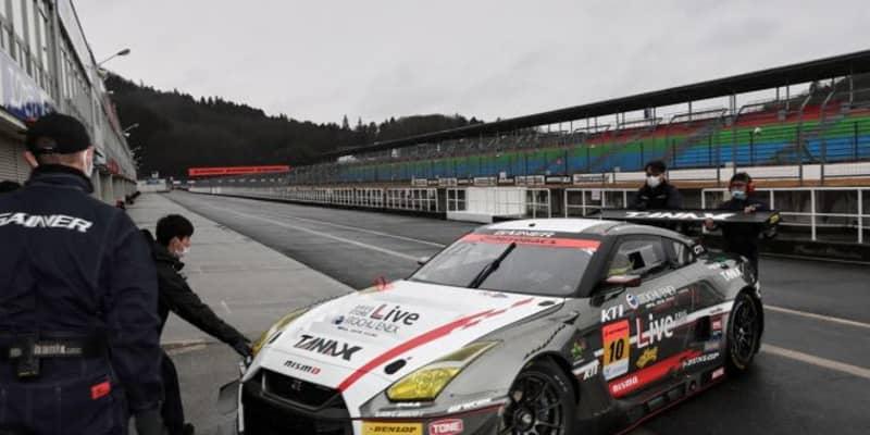 岡山でのGT3特別スポーツ走行に4台のGT300車両が参加。雨のなか走行を重ねる