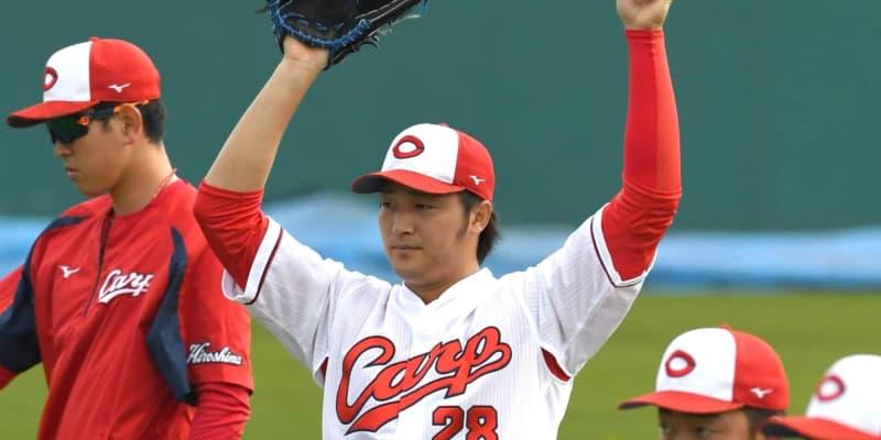広島・床田がブルペン投球再開「いい投手が多い。負けないように」