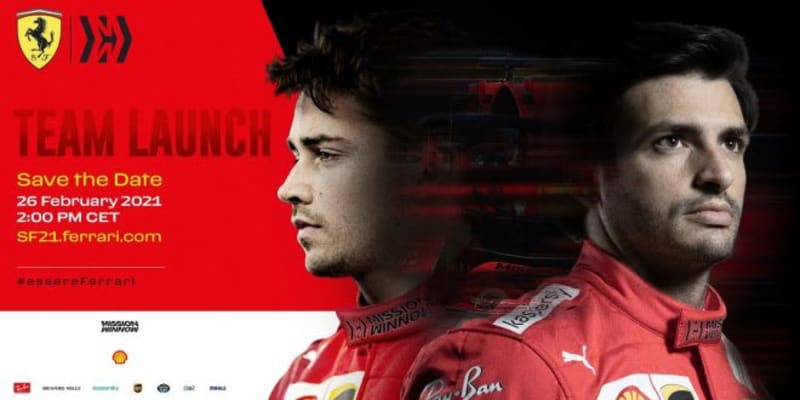【動画】フェラーリF1、新体制のもと始動。ルクレール&サインツJr.のコンビで不振脱却、タイトル争い復帰を目指す