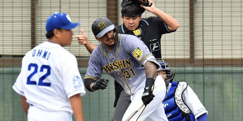 阪神・マルテ 今季初実戦で2打席連続適時打 第2打席は17球投げさせて左前へ