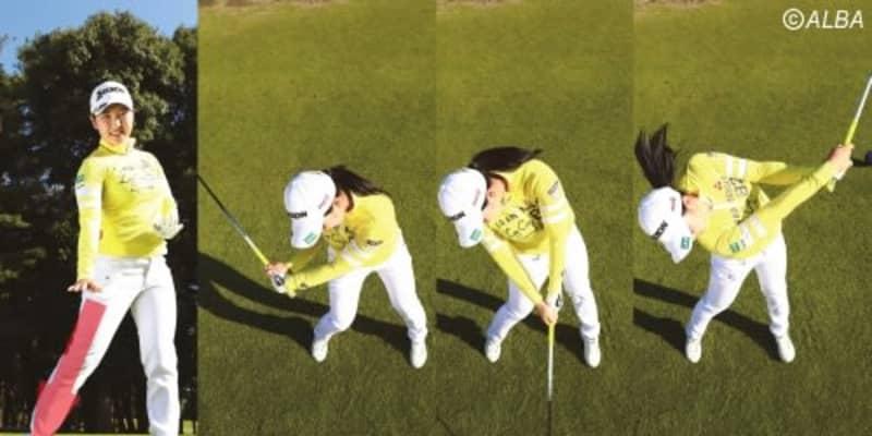 小祝さくらは『コークスクリュー・キック』でぶっ飛び! 「地面の力がボールに伝わります」【ゴルフの飛距離アップ】