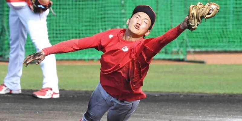 評価UPの広島ドラ6・矢野 出塁率4割&ノーエラーで開幕1軍目指す