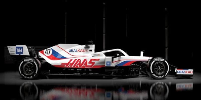 ハースF1、2021年型マシン『VF-21』のカラーリングを発表。ウラルカリがタイトルスポンサーに就任