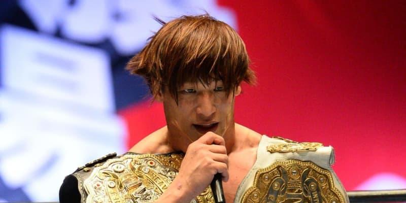 飯伏、デスペ撃破でIWGP世界ヘビー級初代王者認定!「もっと自由なベルトに」