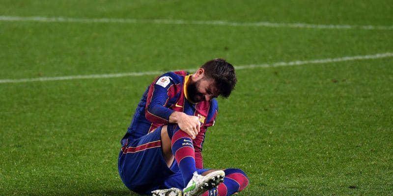 ピケ、また靭帯を痛める…PSG戦の出場は不可能に