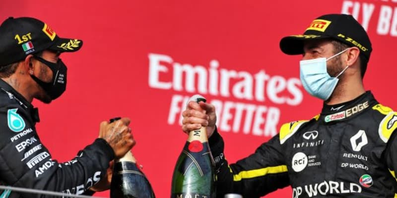 F1、表彰式での祝杯にフェッラーリ・トレントのスパークリングワインを使用。2021年からの3年契約を締結