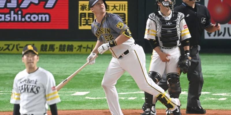 阪神SSコンビがアーチ競演 サンズが追加点となる豪快ソロ
