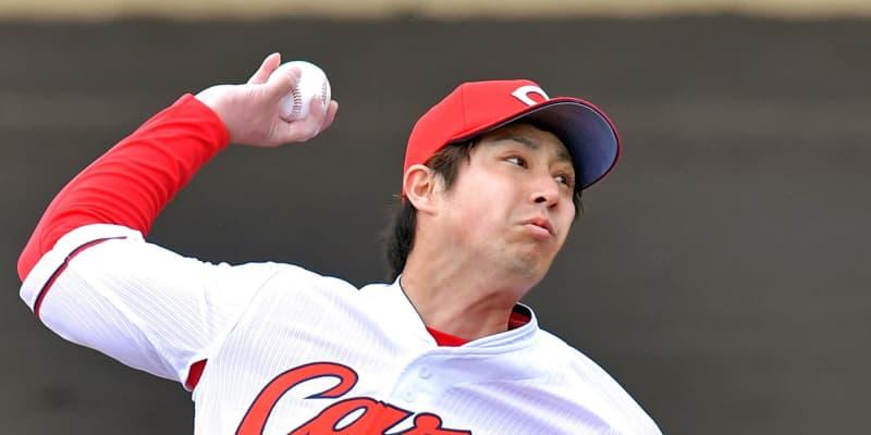 広島・野村「開幕ローテに」残り3枠奪い取る 教育リーグで3回1安打無失点