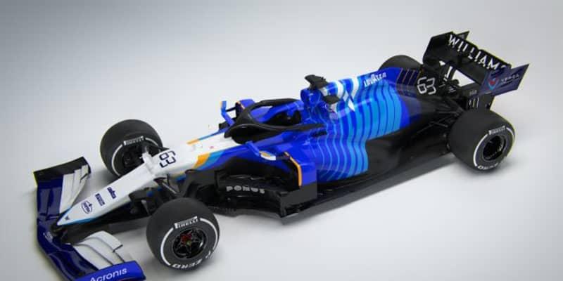 ウイリアムズ2021年型F1『FW43B』:かつての名車にインスパイアされたカラーリングに。新たなスポンサーロゴも加わる予定