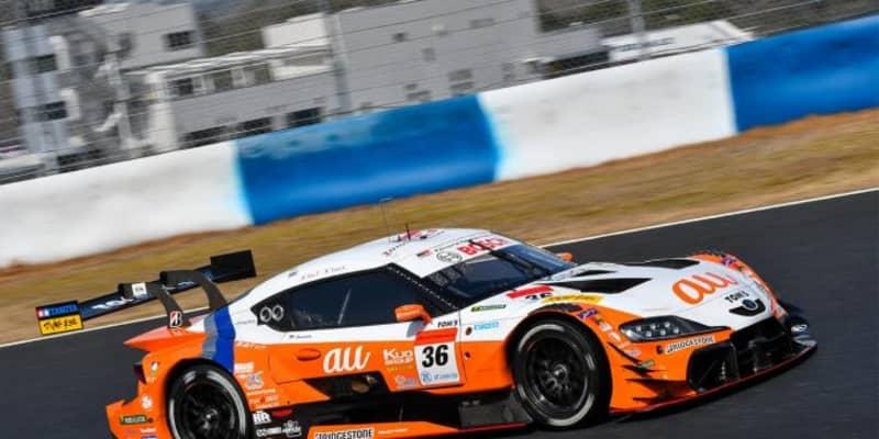 岡山でスーパーGT公式テストがスタート。au TOM'S GR Supraが1日目午前のトップタイムをマーク