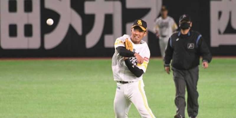 場内どよめき「阪神ファンみんな惚れた」 鷹・今宮の美技2連発にファン称賛