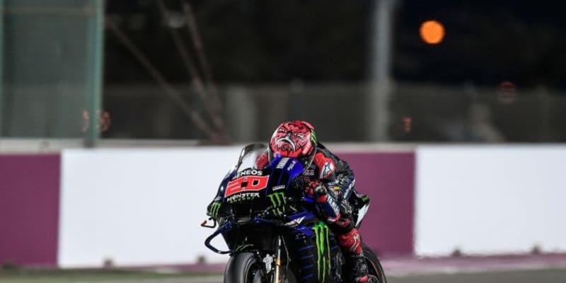 MotoGPカタール公式テスト2日目:クアルタラロが唯一1分53秒台のタイムを記録しトップ
