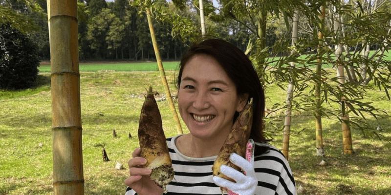 杉山愛ファミリー「たけのこ掘りに行ってきましたーーーっ🧤」苺、筍、春の味覚で幸せ時間