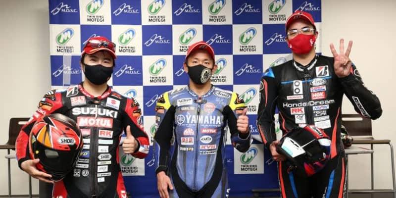 中須賀克行「後半はリズムよく得意なところを走れた。赤旗に救われた」/全日本ロード第1戦もてぎ レース2会見