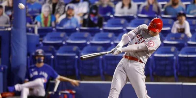 大谷翔平、3号ソロ&走者一掃二塁打で4打点 松井秀超えの日本人最速MLB通算50号