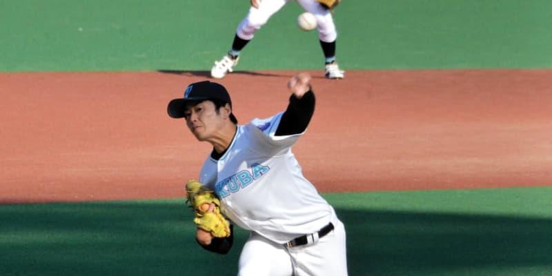 ドラフト上位候補の筑波大・佐藤隼が完封発進 スカウト「ソフトバンクの和田みたい」