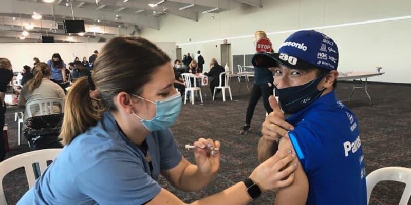 佐藤琢磨、インディカー開幕前に新型コロナワクチンを接種「もっとじわ~っと来るかと思ったけど……全然痛みもなかった」