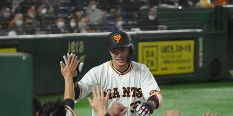 巨人・廣岡大志が移籍後初アーチ 昨季の沢村賞、中日・大野雄から値千金勝ち越し弾
