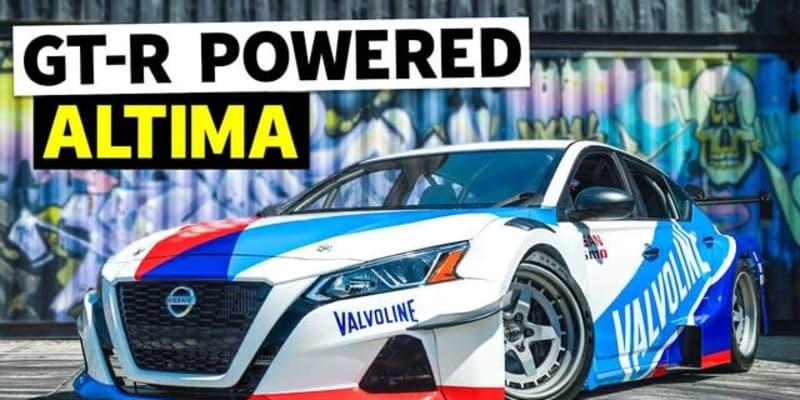 日産 GT-R の心臓部を持つセダン、パワーは1300馬力…新ドリフトマシンが完成[動画]