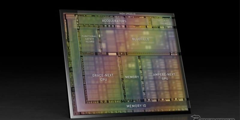エヌビディア、自動運転車向け次世代コンピュータ発表…毎秒1000兆回の演算を可能に