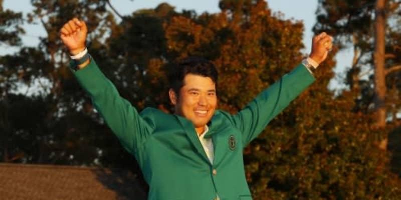 グリーンジャケットで登場! 松山英樹がリモート会見に出席「すごいことをしたんだなと感じます」