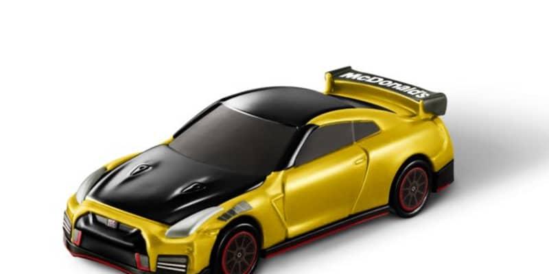 マクドナルドのハッピーセットでニッサンGT-Rがもらえる。ゴールド塗装の特別版も登場