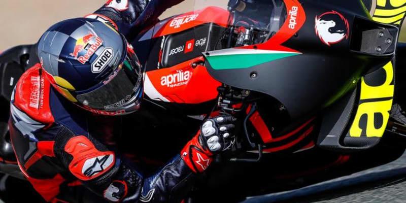ドヴィツィオーゾがアプリリアRS-GPをテスト。5月にはムジェロで2度目のテストを計画/MotoGP