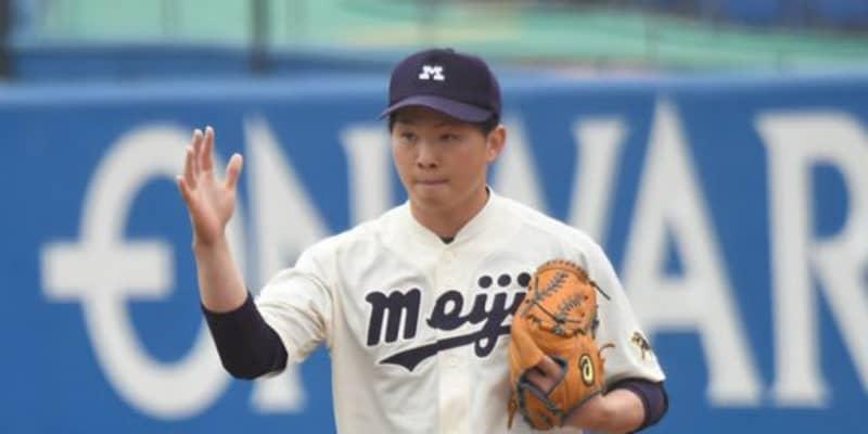 【大学野球】「弱い部分は見せられない」 背負う明大の「11」…選抜準V右腕が目指すエース像