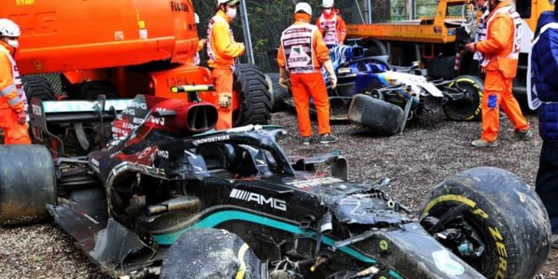 クラッシュのボッタスとラッセル、互いを激しく非難「紳士協定違反の危険な行為」/F1第2戦