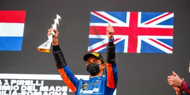 ノリスが3位表彰台「2位は逃したが満足の結果。新パーツを持ち込んでくれたチームに感謝」マクラーレン/F1第2戦