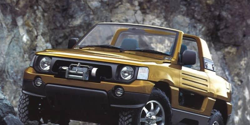 三菱 パジェロのオープンカー! 三菱のコンセプトカーザウスは今ならバカ売れするデキだった