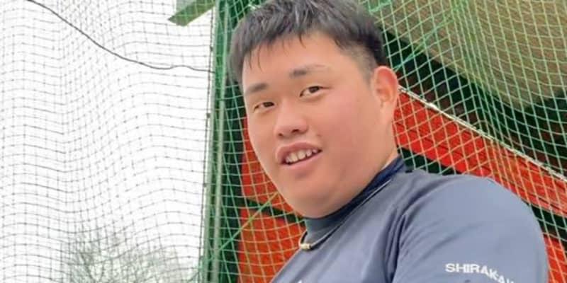 """打球速度は""""MLB""""級の170キロ超 豪快スイング見せる大学1年生が目指す先"""