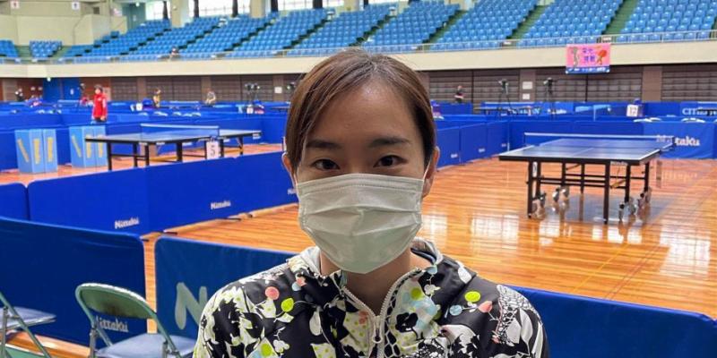 石川佳純がマスク姿で欠場を報告「プレーをすることが出来ず残念」