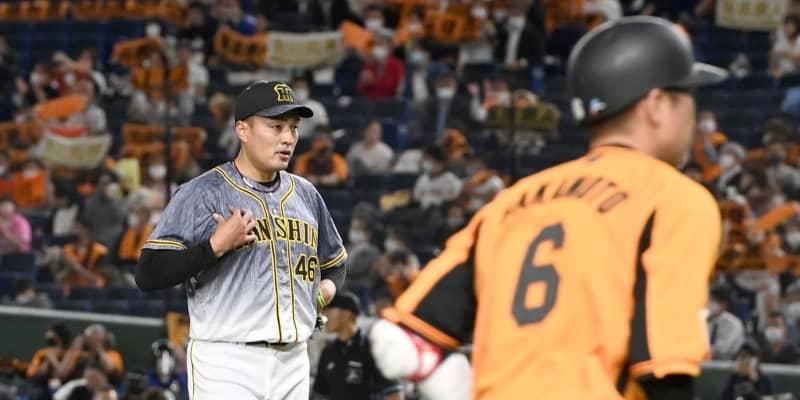 阪神・秋山が今季最短3回6失点で無念のKO 被安打10と打ち込まれる