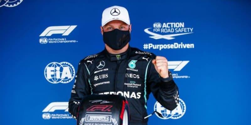 ボッタスが今季初ポール。トラックリミット違反で最速タイム抹消も、フェルスタッペンは3番手【予選レポート/F1第3戦】