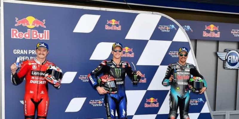 2戦連続ポール獲得のクアルタラロ、風の影響で「一部のコーナーでは難しかった」/MotoGP第4戦スペインGP予選トップ3コメント