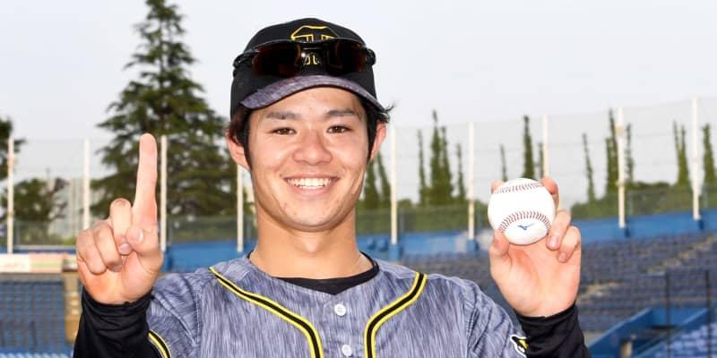 阪神ドラ6中野「よっしゃ~」プロ1号 佐藤輝と49年ぶり阪神新人アベック弾