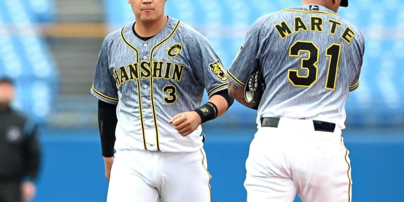 阪神・大山が抹消 矢野監督「時間かかる」 2試合連続の悪送球、四回途中で交代