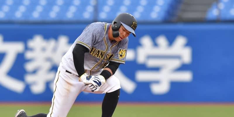 阪神・佐藤輝はぼう然 ヤクルトが繰り出した「ノールック」の二塁牽制【解説】