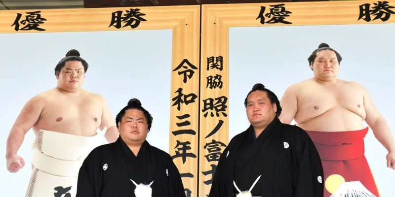 大栄翔、優勝額に驚き「間近で見るとすごい大きい」化粧まわしは「昇り龍」